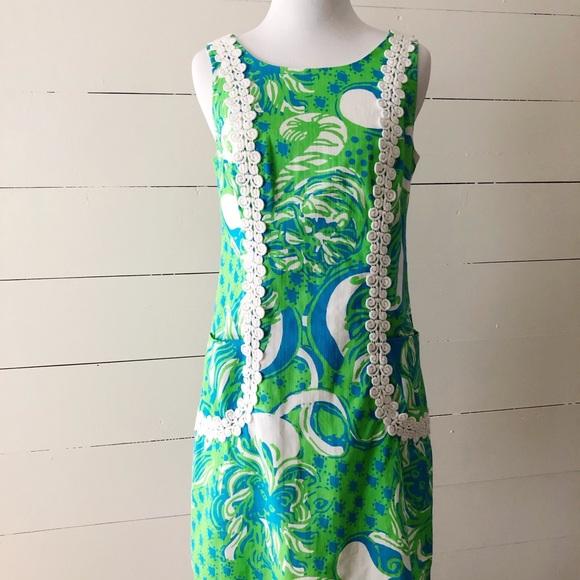 Lilly Pulitzer Dresses & Skirts - Lily Pulitzer Liz Shift Dress Limeade Roar 🐯 🏝